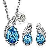 Collar para mujer PAULINE & MORGEN Venice Dream Pendientes colgante Set de joyería con cristal de...