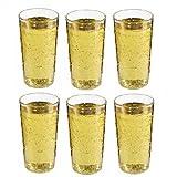 Viva Haushaltswaren  6 unzerbrechliche Apfelweingläser / gerippte Gläser aus hochwertigem Kunststoff #27066#