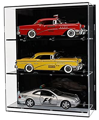 Acrylic Wall Display Case for Three 1:18 Scale Model Cars