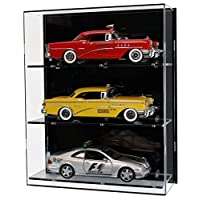 Widdowsons Display Cases Wall Display Case for Three 1:18 Scale Model Cars, Acrylic, 35.2 x 16.5 x 43 cm