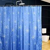 Cortina de ducha PEVA impermeable, espesamiento, cortina de la prueba del moho, tabique del cuarto de baño, cortina de ducha (azul) ( Color : Azul , Tamaño : 300*200cm )