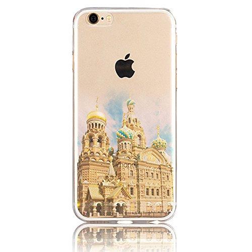 iPhone 7 Hülle, iPhone 7 Schutzhülle, Vandot Handyhülle für iPhone 7 Handytasche (4.7 Zoll) TPU Sillikon Diamant Bling Kristall Transparent Muster Case Cover Glänzend Malerei Durchsichtig Thin Pattern Color 5