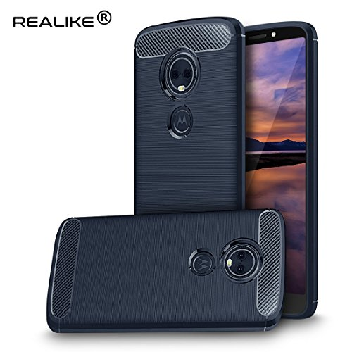 {Prime Day Lightning Deal} REALIKE® Moto E5 Plus Back Cover, Branded Case With Ultimate Protection, Flexible Carbon Fiber Back Cover...