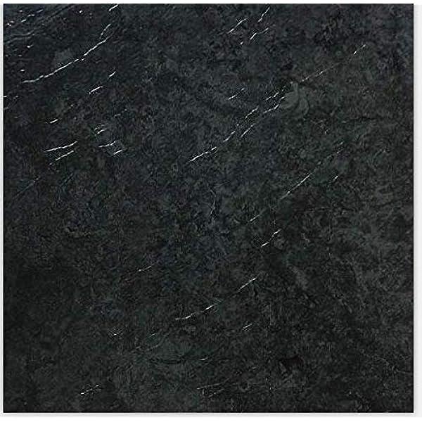 Pack of 20 Tiles DIVCHI Dark Slate Grey self-Adhesive Vinyl Floor Tiles