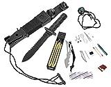 BlackSnake survival knife – Coltello da cintura con Kit di sopravvivenza