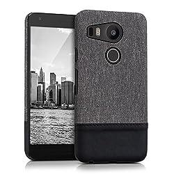 kwmobile Hardcase Hülle für LG Google Nexus 5X - Backcover Case Schutzhülle Cover in Grau Schwarz