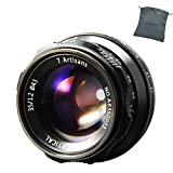 7artisans 35mm F1.2 Aluminum Lens Large Aperture Prime APS-C for Sony E Mount Mirrorless Cameras A6500 A6300 A6100 A6000 A5100 A5000 A9 NEX 3 NEX 3N NEX 5 NEX 5T NEX 5R NEX 6 7