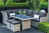 Matodi Classic Dining Lounge 3in1 Sitzgruppe braun