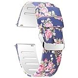 JIELIELE 22mm Silikon Uhrenarmbänder, Atmungsaktiv Ersatzhandschlaufe für Smart Watch Silikagel Armband für Samsung Gear S3 Classic (22mm, Dark Blue Rose)