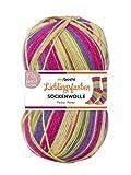 Lieblingsfarben Socken-Wolle 4-Fädig Häkel-Strickgarn für Strümpfe je 100 g Pro Knäuel und 420 m Lauflänge, Maschinenwaschbar bis 40 Grad …Heike Huber