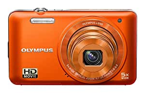 Olympus VG-160 Digitalkamera (14 Megapixel, 5-fach opt. Zoom, 7,6 cm (3 Zoll) Display, bildstabilisiert) orange
