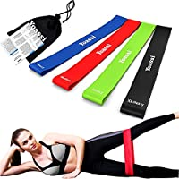 Yoassi Heavy to XX-Heavy Thicker Resistance Bands -Extra Long Fitness Stretch Band Yoga Straps & 4 Exercise Loop bands For GYM Legs Arms Pull Up Strength Training, Physical Therapy Theraband
