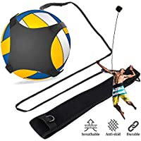 NOBRAND Equipo De Entrenamiento De Fútbol De Voleibol, Cinturón De Práctica De Voleibol, Ayudas para Rebotes De Pelota con Cordones Y Pretina Ajustables, Ideal para Principiantes