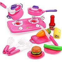 Peradix Set Cucina Giocattolo Bambini Piatti Giocattolo (Kit Utensili Cucina)