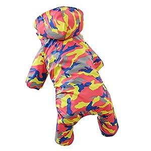 Angelof Vetement Chien/Chat Tenue De Pluie Manteau A Capuche Chien Impermeable Camouflage Petits Taille Veste Pour Chiot Habit Animal Pet