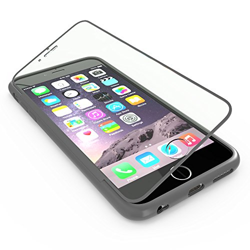 youcase - Apple iPhone 6 6S Touch Case TPU-Schutz-Hülle mit Schutzfolie Displayfolie Outdoor Smart Cover Tasche Etui Silikon grau