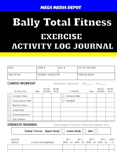 bally-total-fitness-activity-log-journal
