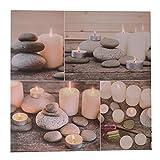 trendaffe Steine & Kerzen Bild mit LED-Beleuchtung - Kerzen und Steine Wandbild