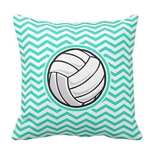 Kotdeqay Volleyball; Aqua Green Chevron Pillow case 18 X 18 inches (4545cm)