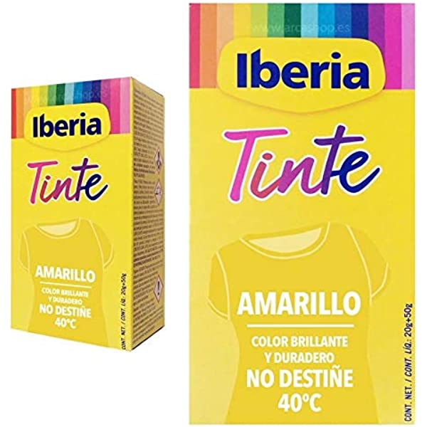 IBERIA TINTE TEXTIL AMARILLO 70 gr: Amazon.es: Belleza