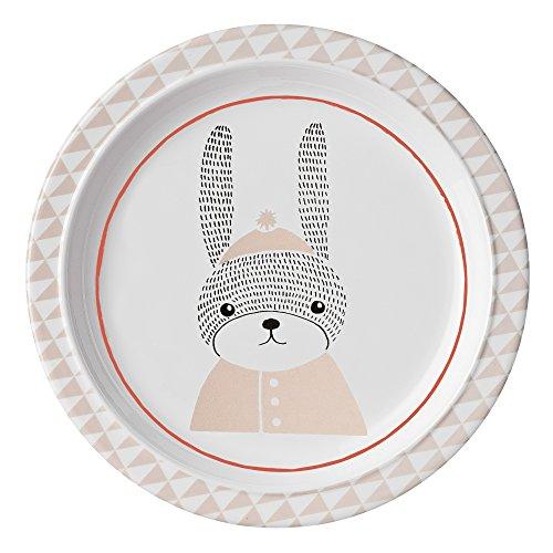 Bloomingville Mini Sophia de mélamine Assiette Rabbit Assiette pour Enfant Ø 22 cm Lapin