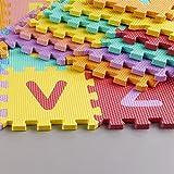 kraftz® Kids Soft EVA-Schaum Multicolor Puzzle Aktivität Spielmatte Alphabet und Zahlen 36pcs (A-Z und 0–9) Interlocking-Set Boden Fliesen (12x 12cm Pro PC.)