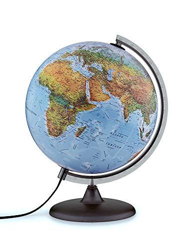 TECNODIDATTICA Mappamondo Atmosphere B2, Luminoso, Girevole, cartografia Fisico/Politica e meridiano graduato, Diametro 30 cm, Colore, 0331B2FAITLFF044