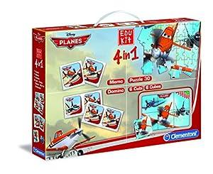 Clementoni - Edukit: Planes Puzzle, memo, Domino y Rompecabezas