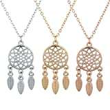 Best Lux Accessories Friend Necklace For Threes - Lux Accessories Tri Tone Boho Dream Catcher BFF Review