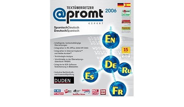 Promt Expert 2006 Textübersetzer Deutsch Spanisch 1 Cd Rom