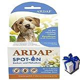 ARDAP Zeckenschutz Flohschutz SPOT-ON für kleine Hunde bis 10 kg + Geschenk