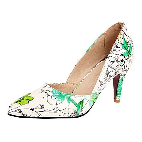 Mee Shoes Damen speziell elegant spitz Kitten-Heel Gescchlossen Pumps Gr眉n