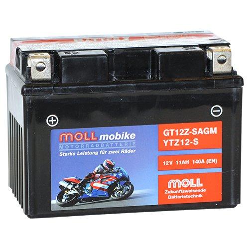 Moll mobike AGM Motorradbatterie YTZ12-S 12Ah 12V 140A - GT12Z-S