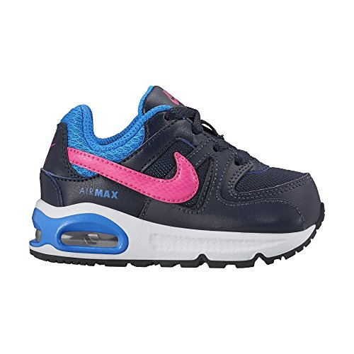Nike Unisex – Bimbi 0-24 Air Max Command (TD) scarpe sportive Nero/rosa-blu (Obsidian/Pink Pow-Photo Blue)