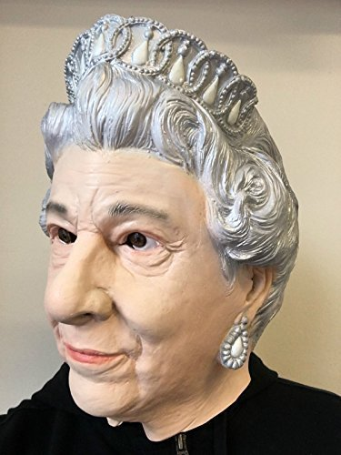 QUEEN ELIZABETH Maske Deluxe Latex BRITISCH MONARCH Kostüm (Kostüm Monarch)