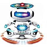 Glance No.1 Musical and Naugty Dancing Robot, White/Blue