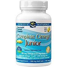 Omega completa junior, limón, 500 mg, 90 geles suaves masticables - Naturals nórdicos
