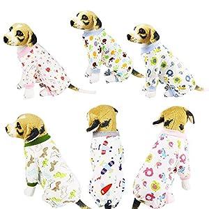 ProperLI Pyjama pour Chien en Coton Vêtements porté dans Maison imprimés Pull à Quatre Pattes Confortable et Charmant