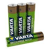 Varta Recharge Accu Endless Energy AAA Micro Ni-Mh Akku 4er Pack 550 mAh - bis zu 3500 Ladezyklen, geringe Selbstentladung, vorgeladen und Ready2Use - wiederaufladbar ohne Memory Effekt (Design kann abweichen)