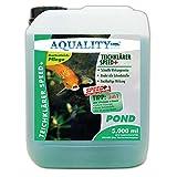 AQUALITY TeichKlärer SPEED+ 3in1 (Wirkt schnell und sicher - Entfernt Trübungen und bindet Schwebstoffe im Gartenteich - Nachhaltige Wirkung für kristallklares Teichwasser - Teichklar), Inhalt:5 Liter