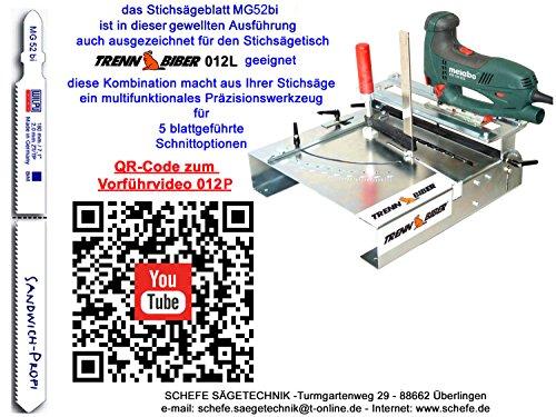5St MG52 Sandwich Stichsägeblätter 180 mm lang für Stichsäge u Trenn-Biber 012P - 2