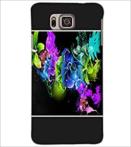 PrintDhaba Floral Pattern D-1253 Back Case Cover for SAMSUNG GALAXY ALPHA (Multi-Coloured)