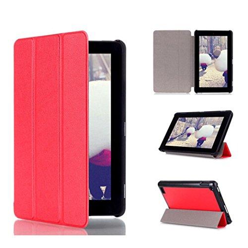 Fire 2015 Hd Fall Kindle 7, (samLIKE Tri-Fold Leder Stand Case Cover für Amazon Kindle Fire 7