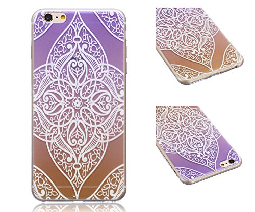 ZeWoo TPU Schutzhülle - BF012 / Mädchen und Baum - für Apple iPhone 6 (4,7 Zoll) Silikon Hülle Case Cover Silikon Hülle Case Cover BF010 / Geheimnis Lila