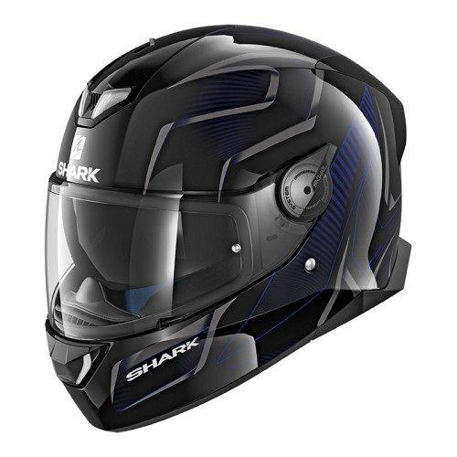 SHARK SKWAL 2Flynn cascos de motocicleta, color negro/azul, talla S