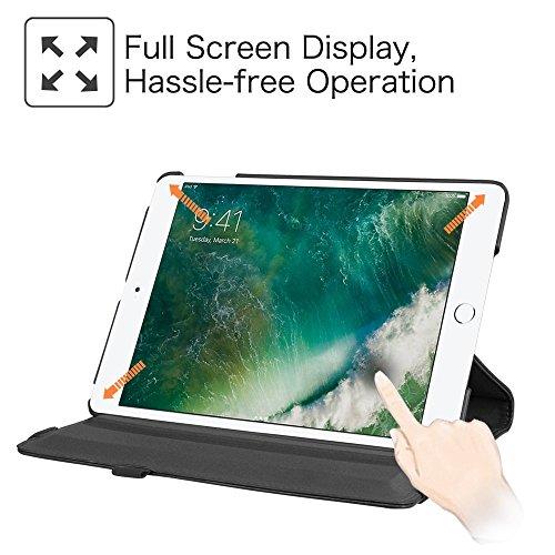 Fintie iPad 9.7 Zoll 2017 / iPad Air Hülle - 360 Grad Rotierend Stand Smart Cover Case Schutzhülle mit Auto Schlaf / Wach Funktion für Apple iPad 2017 Neue Modell / iPad Air 2013 Modell, Schwarz - 6