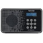 TechniSat Digital TechniRadio 2 (tragbar, DAB+/DAB, UKW-Empfang, Favoritenspeicher) schwarz/weiß