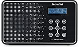 TechniSat TECHNIRADIO 2 Digital-Radio mit Favoritenspeicher, mobiles DAB+ und UKW-Radio, Kopfhöreranschluss, Netz- oder Batteriebetrieb, perfektes Taschenradio für unterwegs, schwarz/weiß