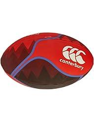 Canterbury Thrillseeker balón de Rugby, color Fiery Red, tamaño talla 5