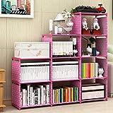 G-KAMP JAPAN Plastic Simple Bookshelf/Multipurpose Rack/ Storage Organizer (12 Layer, Pink)